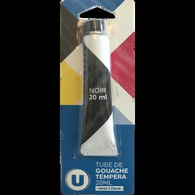 TUBE DE GOUACHE U 20ML NOIR-BLISTER CARD