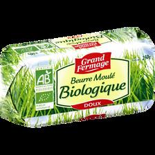 Beurre doux moulé BIO GRAND FERMAGE, 82% de MG,  plaquette de 250g
