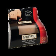 Bloc de foie gras de canard avec morceau et trancheur LABEYRIE, 190g
