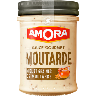 Sauce gourmet moutarde miel AMORA, bocal de 190g