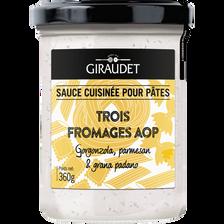 Sauce trois fromages, GIRAUDET, pot de 360g