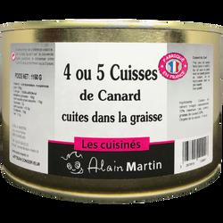 4/5 cuisses de canard cuites dans la graisse MARTIN, boîte de 1,150kg