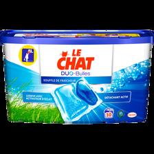 Lessive Duo bulles fraîcheur LE CHAT, boîte de 30 capsules soit 750g