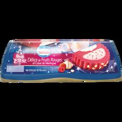 Bûche glacée Délice de Fruits rouges et coeur de meringue NESTLE, 540g