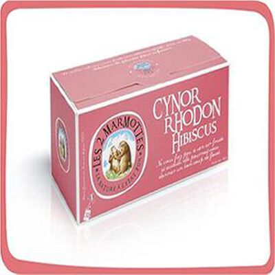 "Les 2 marmottes ""CYNORRHODON HIBISCUS"" boite 30 sachets , 88g"