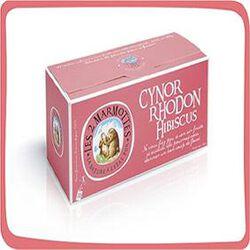Infusion Cynorrhodon Hibiscus, LES 2 MARMOTTES, la boite de 30 sachets, 88g.