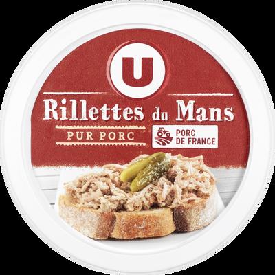 Rillettes du Mans pur porc U, 110g