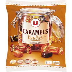 Assortiment de bonbons au caramel tendre U, paquet de 340g