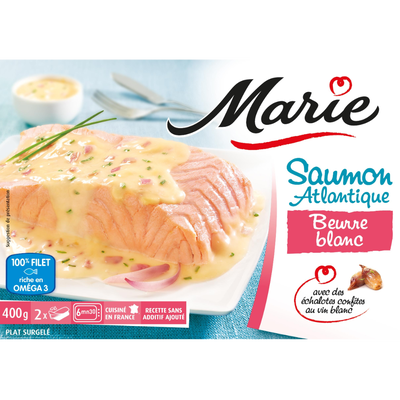 Saumon Atlantique beurre blanc échalotes fondantes MARIE, 400g