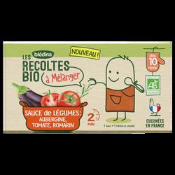 Sauce de légumes Aubergine, Tomate, Romarin Les Recoltes Bio dès 10mois, 2 x 150g, 300g