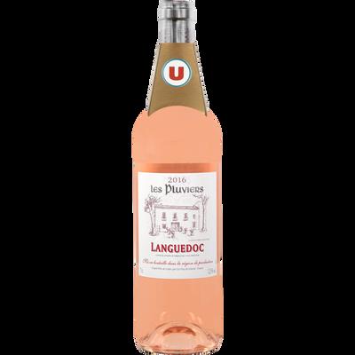 Languedoc AOP rosé Les Pluviers, U, bouteille de 75cl