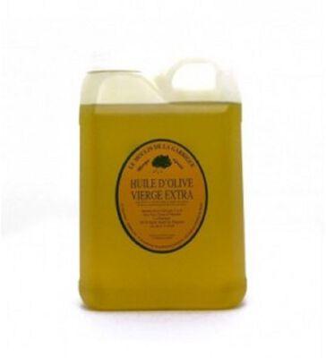 Huile d'Olive Vierge Extra Le Moulin de la Garrigue bidon plastique 2 Litres