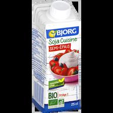 Soja cuisine semi épais bio BJORG, 25cl
