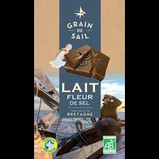 Tablette de Chocolat au lait fleur de sel Bio GRAIN DE SAIL, 100g