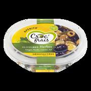 Croc' frais Olives Vertes Et Noires Aux Herbes, Croc'frais, Sans Conservateur, Barquette 200g