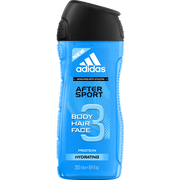 Adidas Gel Douche Pour Homme After Sport Adidas, Flacon De 250ml