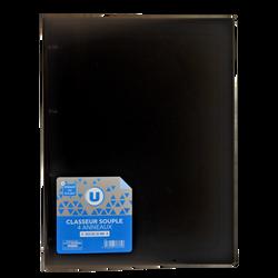 Classeur souple U, format A4, dos 25mm, noir