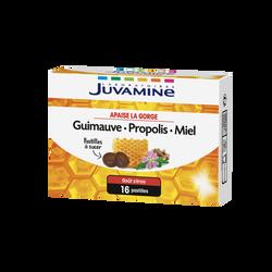 JUVAMINE GUIMAUVE PROPOLIS MIEL, Apaise la gorge, 16 pastilles à sucer