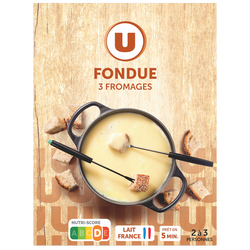 Fondue aux 3 fromages U, 15%mg, 450g