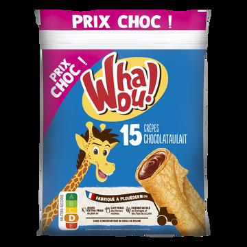 Whaou! Crêpes Fourrées Chocolat Au Lait Whaou, X15 Soit 480g Prix Choc