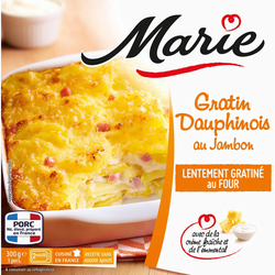 Gratin dauphinois au jambon, MARIE, 300g