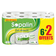 Sopalin Essuie-tout Sur Mesure Blanc Sopalin, X 6 + 2 Offert