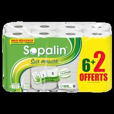 Sopalin Essuie-tout Sur Mesure Blanc , X 6 + 2 Gratuits