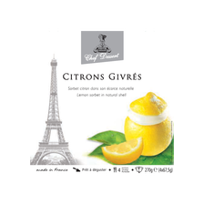 Citron givres CHEF DESSERT, 4x270g
