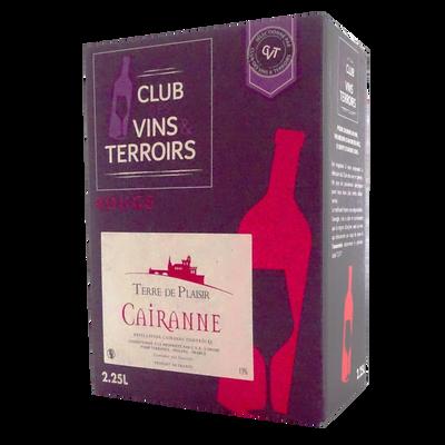 Vin rouge AOP villages Cairanne Terre de Plaisir, bib de 3L