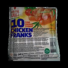 Saucisses de poulet fumées, MAITRE GRILL, 340g