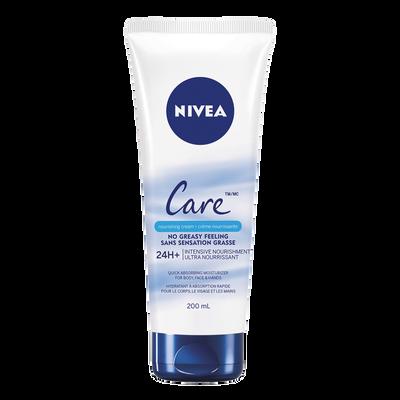 Crème ultra nourrisante corps/visage/mains NIVEA care, 200ml