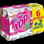 Yoplait Yaourt À Boire Framboise P'tit Yop 6x180g + 2 Offerts