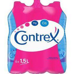 Eau minérale naturelle, CONTREX, 6 bouteilles en plastique de 1,5 litre