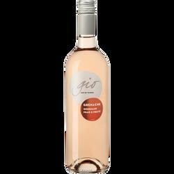 Vin rosé IGP Pays d'Oc grenache Gio, 75cl