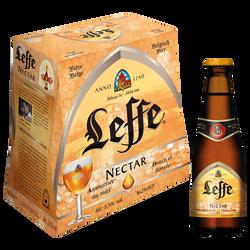 Bière blonde arômatisée au miel Nectar LEFFE, 5,5°, 6x25cl
