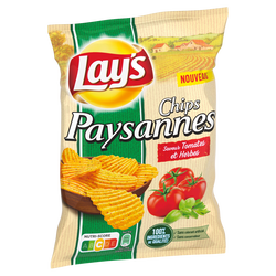 CHIPS PAYSANNES TOMATE HERBES LAY'S 120G