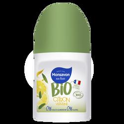 Déodorant citron verveine BIO MONSAVON, bille de 50ml