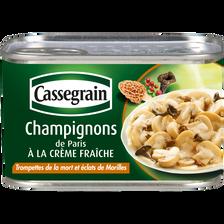 Champignons de Paris à la crème aux trompettes de la mort et éclats demorilles CASSEGRAIN, 380g