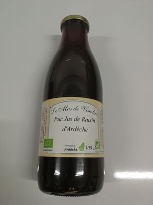 Jus de raisin d'Ardèche 75cl le mas de vinobre