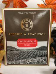 IGP Pays D'Hérault - Terroir et Tradition - Rouge 3L