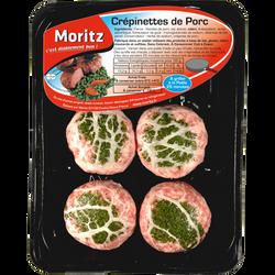 Crepinette de porc, 4 pièces, barquette, 440g