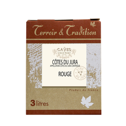 Côtes du Jura rouge LES CAVES DU VIEUX MONT, bag-in-box 3l
