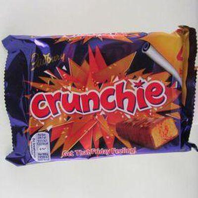 Crunchie barre croquante chocolat miel CADBURY, 104,4g
