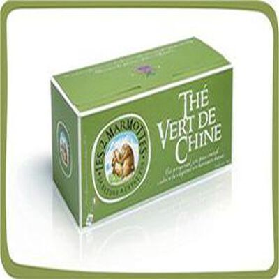 Thé vert de Chine, infusion 30 sachets, les 2 marmottes