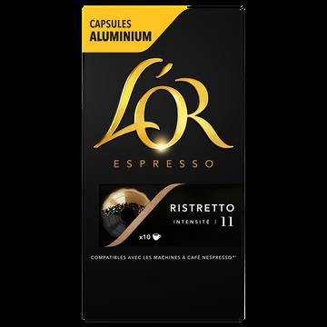 Maison du Café Café Capsules L'or Espresso Ristretto X10