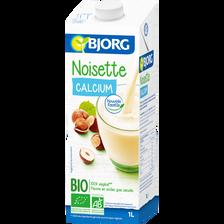 Boisson Délice Noisette bio BJORG, brique de 1 litre