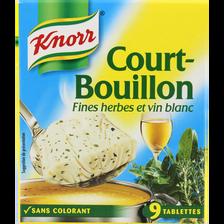 Cubes court bouillon KNORR, 9 tablettes, 113g