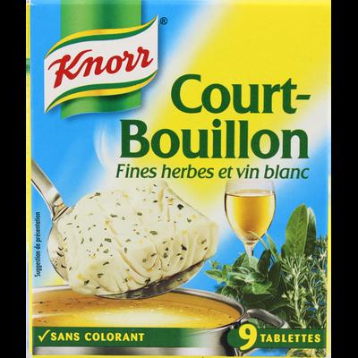 Cubes court bouillon KNORR, 9 tablettes soit 113g