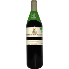 Vin rouge AOC Bergerac Château du Moulin agriculture bio, 2016, 5x75+1gratuite