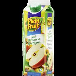 Jus de pomme de Bretagne abc Plein Fruit, bouteille de 1l